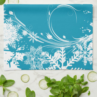 Prado azul del invierno - buenas fiestas toallas