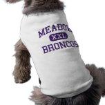 Prado - caballos salvajes - High School secundaria Camisetas De Perro