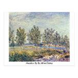 Prado cerca por Alfred Sisley Tarjeta Postal