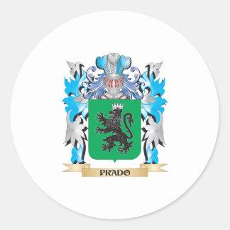 Prado Coat of Arms - Family Crest Round Sticker