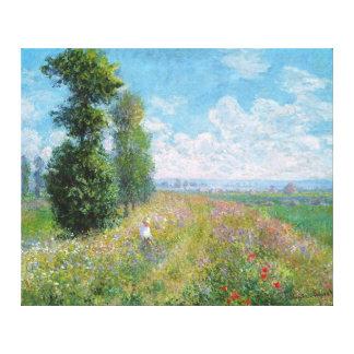 Prado con los álamos, por Claude Monet Impresión En Lienzo
