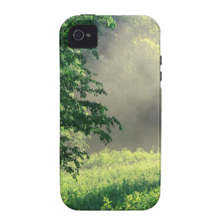 Prado de la mañana del árbol Case-Mate iPhone 4 fundas
