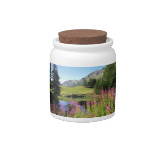 Prado de la montaña jarras para caramelos
