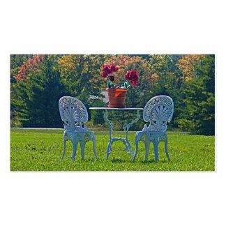 Prado de las hojas de otoño del amor que casan la tarjetas de visita