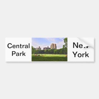 Prado de las ovejas de Central Park Etiqueta De Parachoque