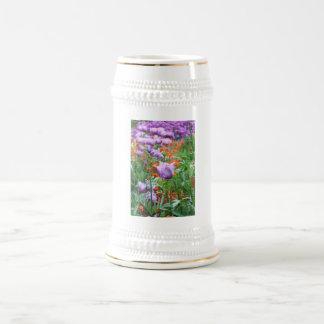 Prado de los tulipanes jarra de cerveza
