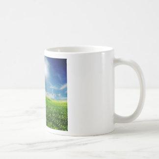 Prado de verano taza de café