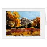 Prado de Yosemite Halfdome Tarjetas