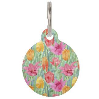 Prado del tulipán identificador para mascota