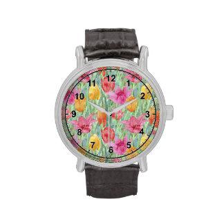 Prado del tulipán relojes de mano
