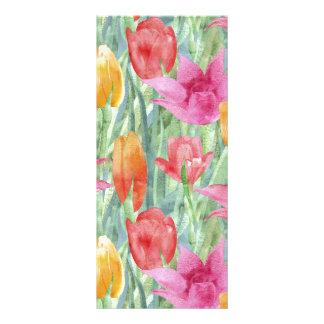 Prado del tulipán plantilla de lona