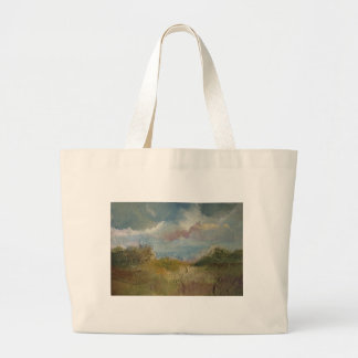 Prado del verano bolsa tela grande