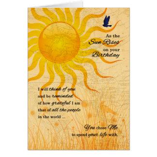 Prado del verano del cumpleaños el | del socio de tarjeta de felicitación