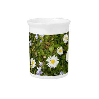 prado floreciente jarras para bebida