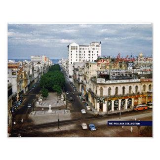 Prado La Habana 1957 a todo color Fotografía