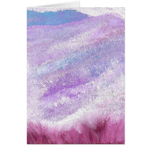 Prado púrpura C14 Tarjeta De Felicitación