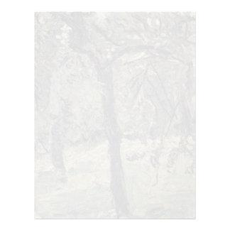 Prado soleado con los árboles frutales de Gerstl R Membrete A Diseño
