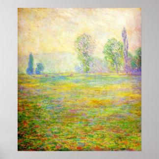 Prados de Monet en el poster de Giverny