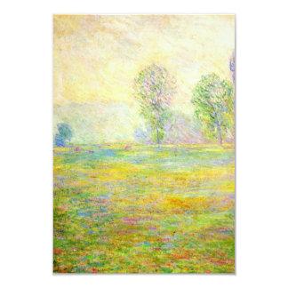 """Prados de Monet en las invitaciones de Giverny Invitación 3.5"""" X 5"""""""