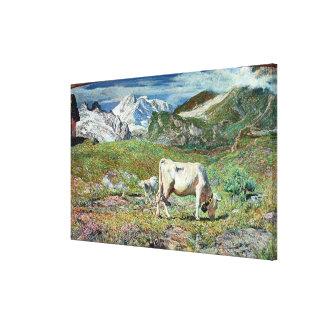 Prados en primavera lienzo envuelto para galerías