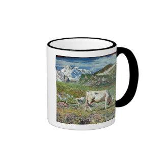 Prados en primavera taza de café