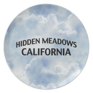 Prados ocultados California Plato De Cena