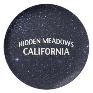 Prados ocultados California Plato Para Fiesta