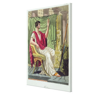 Praetor, No. 38 from 'Antique Rome', engraved by L Canvas Print