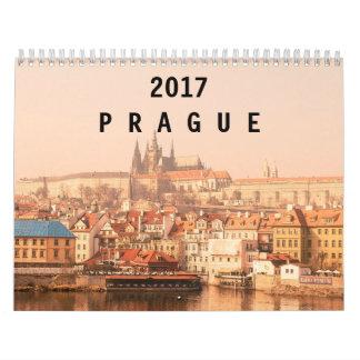 Praga 2017 calendario de pared