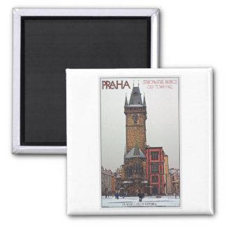Praga - ayuntamiento viejo imán para frigorifico