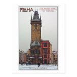 Praga - ayuntamiento viejo tarjeta postal