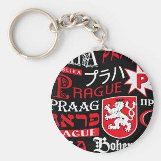 Praga Bohemia Llavero Redondo Tipo Pin