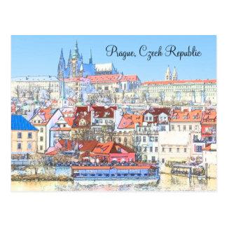 Praga en postal en colores pastel