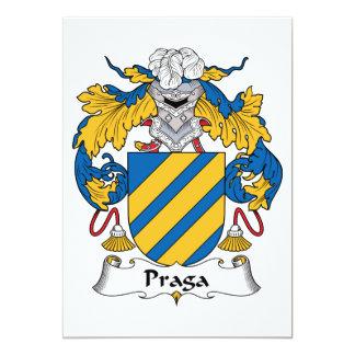 Praga Family Crest Custom Announcements