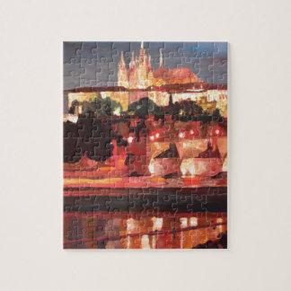 Praga - Hradschin con el puente de Charles Puzzle