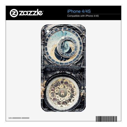 Praga Orloj Calcomanías Para El iPhone 4S