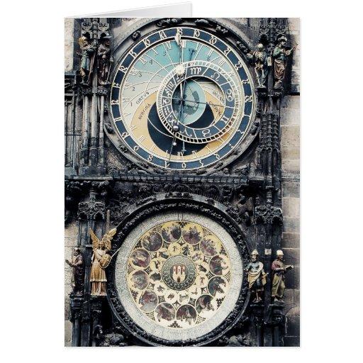 Praga Orloj Tarjeta De Felicitación