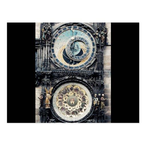 Praga Orloj Tarjeta Postal