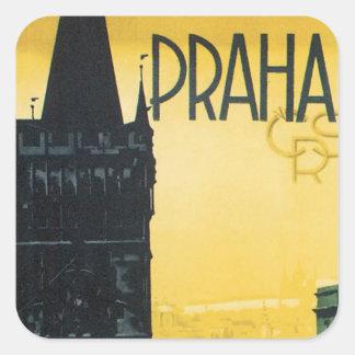 Praga Calcomanías Cuadradass