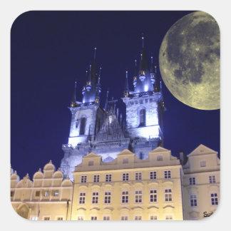 Praga Pegatina Cuadrada