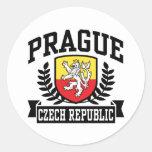Praga Pegatina Redonda