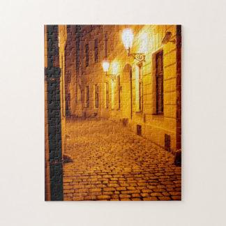 Praga por rompecabezas de la luz artificial