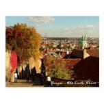 Praga - postal vieja de las escaleras del castillo