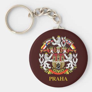 Praga (Praga) Llavero Redondo Tipo Pin