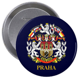 Praga (Praga) Pin Redondo De 4 Pulgadas