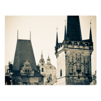 Praga, República Checa - puerta de la torre del Postal