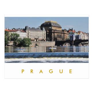Praga - teatro nacional postales