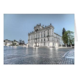 Prague - Archbishop Palace in the Morning Card
