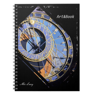 Prague, Astronomical Clock, Czech Art (Notebook) Notebook