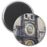 Prague Astronomical Clock In The Old Town Square 2 Inch Round Magnet